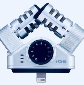 Zoom iQ6 mikrofoninäkymä.