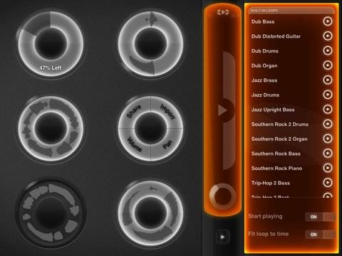 Loopy HD:n ohjausnäkymä.