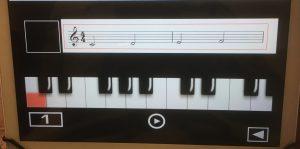Piano Sheet Readingin tehtävä.