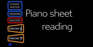 Piano Sheet Readingin aloitusvalikko.